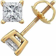 Pendientes Diamantes River E muy refinado blanco Oro amarillo 1,50 Quilates