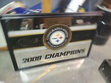 2008 Budweiser Bud Light Champions Pittsburgh Steelers Framed .Mirror