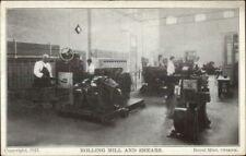Ottawa Ontario Royal Mint Currency Mfg c1910 Postcard ROLLING MILL & SHEARS