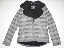 New Hurley Womens McKenzie Wool Button Up Sherpa Fleece Fashion Jacket Small