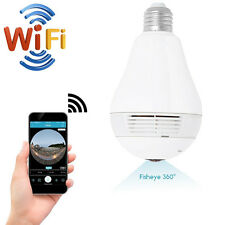 New 960P WIFI 360° SPY HD Hidden IP Camera LED Bulb Video Recorder APP Nanny Cam