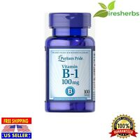 VITAMIN B-1 B1 THIAMIN 100MG ENERGY METABOLISM NERVOUS SYSTEM SUPPLEMENT 100 TAB