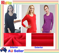 Women Thermal Top  Brushed Interior Winter Warm Long Sleeve Crew Neck New Bulk