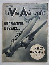 VIE AERIENNE 147 MECANICIEN D'ESSAIS AIR BLEU CAUDRON AVIATION MARCHANDE COMBAT