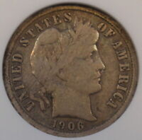 1906-O Barber Dime ANACS F12 Old Small Holder