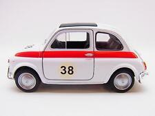 14022 | Welly 43606 Fiat Nuova 500 Weiss maqueta de coche con propulsión 1:40 nuevo