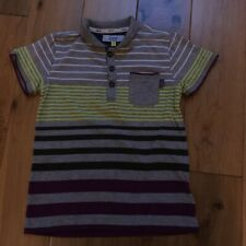 Boys Ted Baker Collared Stripy T-shirt, Age 5-6 Years, VGC