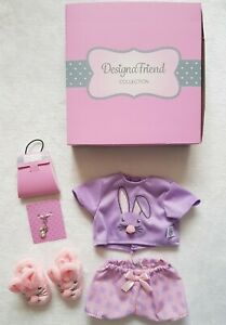 Chad Valley Design A Friend Outfit Clothes Bunny Pyjamas Pjs Slippers