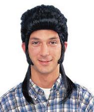 Mullet Black Wig 1980s Redneck Trailor Trash Halloween Costume 24638-01