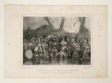Lithographie originale, L'ennemi ne se doute pas, Raffet, frères Gihaut, XIXe.