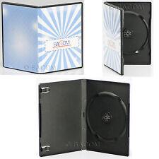 100 Custodie DVD Singole Nere - DVD BOX Nero per 1 DVD/CD Spedizione Gratuita!