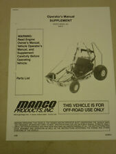 Manco Model 808-01 Go Kart Parts List Operators Manual Cart
