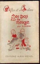 ELFES ET LUTINS   DES PAS DANS LA NEIGE    1947
