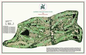 Laurel Valley Golf Club 1958 - Dick Wilson - Vintage Golf Course Map