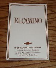 1984 Chevrolet El Camino Owners Operators Manual 84 Chevy