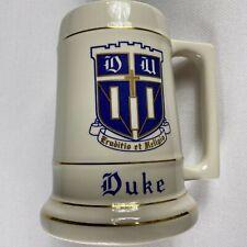 Duke Stein VTG Big Mug Blue Devils Cup Beer Alumni Student Alumni Drink Large