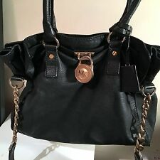 Michael Kors Mk Hamilton Black Tote Leather Bag RRP 300