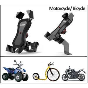Motorcycle Bicycle Phone Holder Support Handlebar Rearview Mirror Mount Bracket