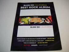 Blink 182 California is the Best Rock Album original 2017 Promo Poster Ad