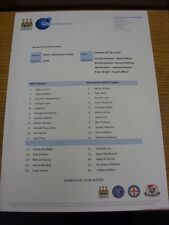 23/05/2015 Manchester City U21 v Manchester United U21  (single sheet). Bobfrank