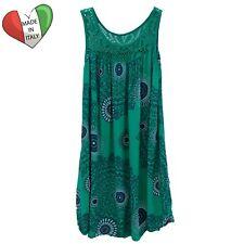 Wolfairy Womens Italian Lagenlook Summer Aztec Dress Tunic Lace Plus Size 16-28