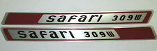 (2) Wheel Horse Safari 309W Snowmobile Emblems Stickers NEW OLD STOCK VINTAGE