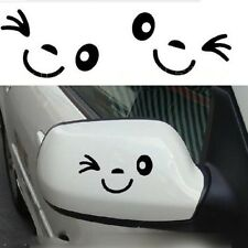 Funny Auto 3D Black Smile Face Design Car Side Mirror Rearview Decal Decor CN