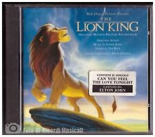 LION KING ORIGINAL MOTION PICTURE SOUNDTRACK **NUOVO SIGILLATO SEALED**