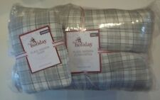 Pottery Barn Kids Plaid Sherpa Comforter Twin w/ 1 Standard Sham Gray#1189
