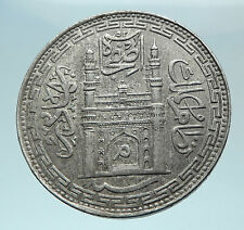 1905 INDIA Princely States Hyderabad ALI KHAN Silver RUPEE Indian Coin i78958