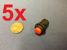 5 Pieces - Momentary 12mm red pushbutton Switch round push button 12v on off b14