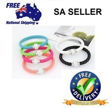 PU Leather Bracelets With Crystal Stones Filled Magnetic Clasp Charm SA SELLER
