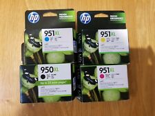 4x HP Genuine 950XL 951XL Ink Cartridges BLACK C/M/Y 8100/8600/8600 Plus NIB