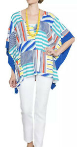 EAST Lifestyle OVERSIZED Abstract TOP size M -L Loose Fit Multicolour Boxy Beach