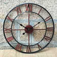 80cm Large Wall Clock Metal Industrial Iron Vintage Metal Clock Wall Clock