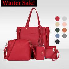 4pcs Set Women Shoulder Bags Waterproof Top Handle Satchel Tote Purse Handbag