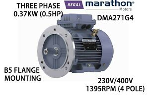 REGAL BELOIT BRAND MARATHON 0.37KW (0.5HP) THREE PHASE MOTOR AC 230V/400V