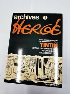 Book Comics Archives Tintin 1 Hergé. REF60528