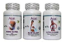 3X Acai Diet Pills Cleanse Cleanser Detox Fat Burner Pure Slimming Tablets T5 +