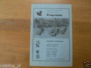 1975 ICERACE,IJSSPEEDWAY EINDHOVEN INTERNATIONAL 25-26 JANUARI 1975
