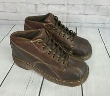 DR DOC MARTENS Brown BEATRICE Leather 14 Hole Tall Boots US W 9 EUR 41 UK | eBay