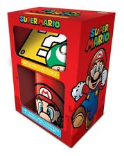 Super Mario Brothers Official Mug Coaster And Key Chain Ring Gift Set Nintendo