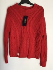 Ralph Lauren Chunky Cable Knit Red Jumper Size 6-7 Years Wool Blend