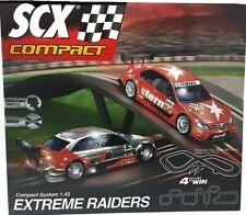 Scx Compact 1/43 Extreme Raiders Slot Car Set Audi Mercedes Electric Race Track