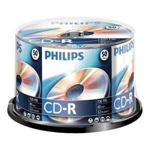 50er Spindel Philips CD-R 700 MB Rohlinge 80 Minuten Aufnahmezeit max. 52x Speed