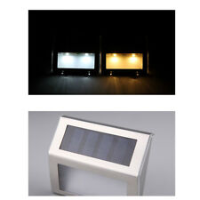 White Stairs Lights Automatic Fence Pathway Lamp Landscape Yard Garden Light