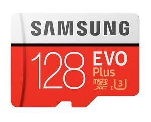Samsung 128GB microSDXC EVO Plus 100MB/s U3 4K Class 10 Micro SD MB-MC128HA