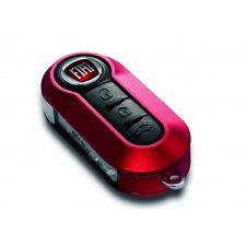Coque ROUGE CERISE  clé télécommande Fiat 500 Panda Ducato Brava Stilo Bravo