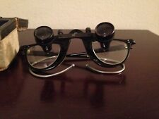 VINTAGE KEELER MAGNIFYING GLASSES LOUPES WITH CASE FOUND IN OPTICIAN HOUSE RARE