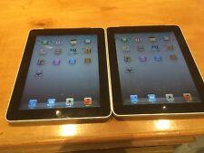 Lots 2 Apple iPad 1st Generation 16GB, Wi-Fi + 3G (AT&T), 9.7in - Black